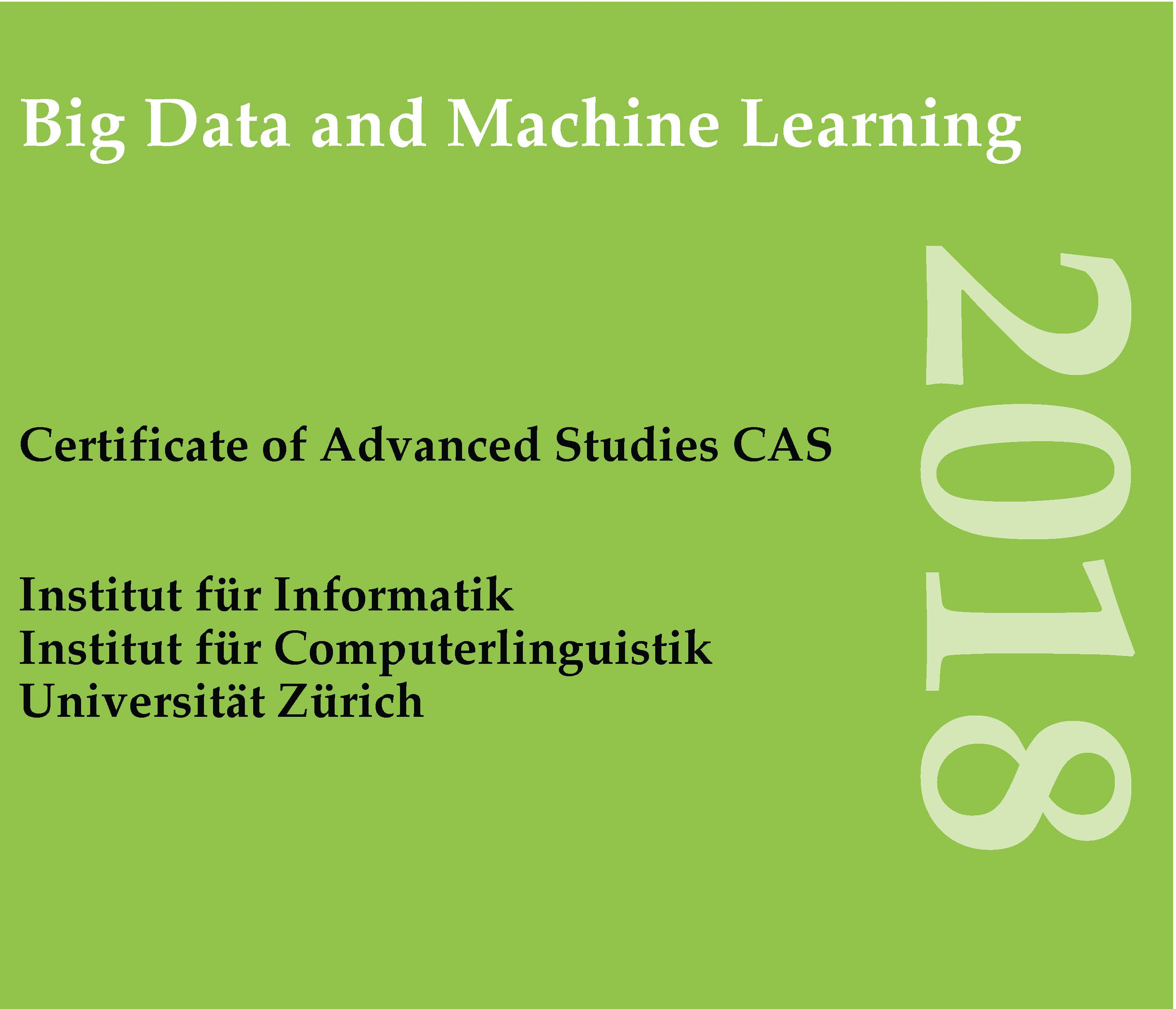 CAS in Big Data and Machine Learning